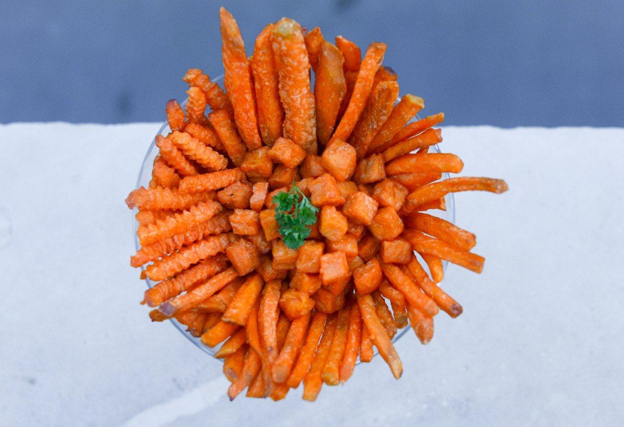 sweet potato plate fry